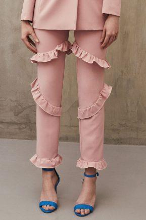 Pantalon cu volane Rosie - Summer 2017 Mirela Diaconu Magazin Online