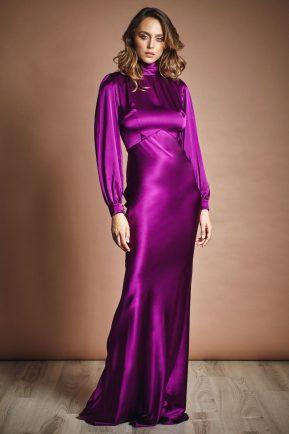 Barbara silk evening gown