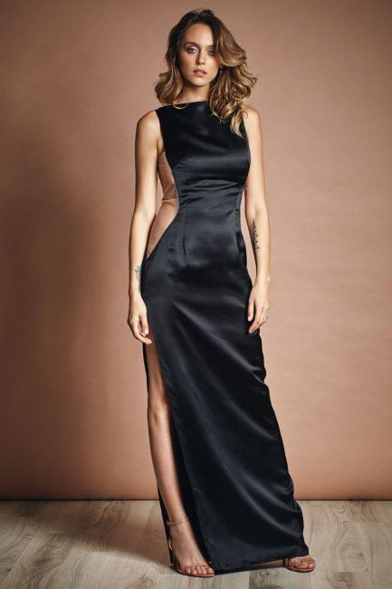 Satin cutout gown