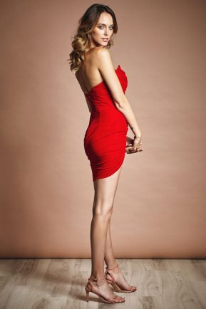 Velvet mini dress with