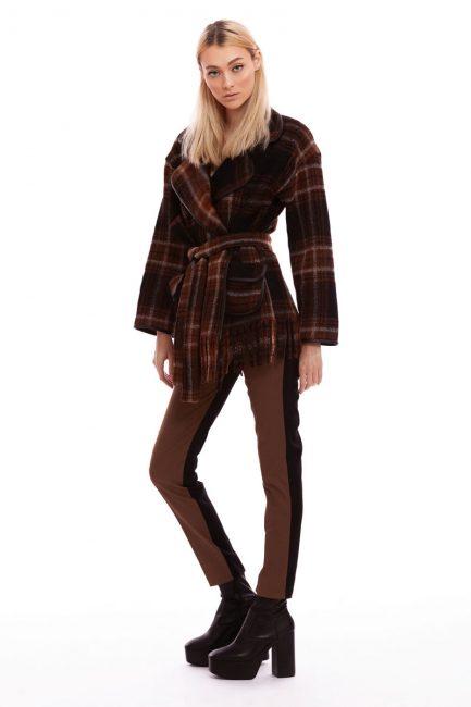 Palton de lana in carouri