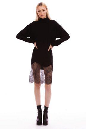 Rochie din tricot cu dantela